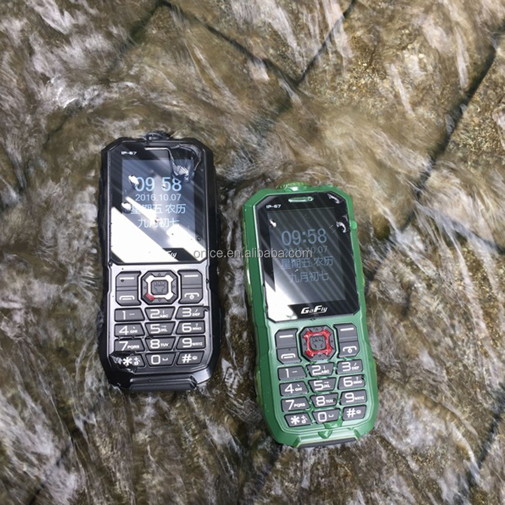 A8S low price IP67 waterproof rugged 0.3mp rear camera 2G feature keypad mobile phone