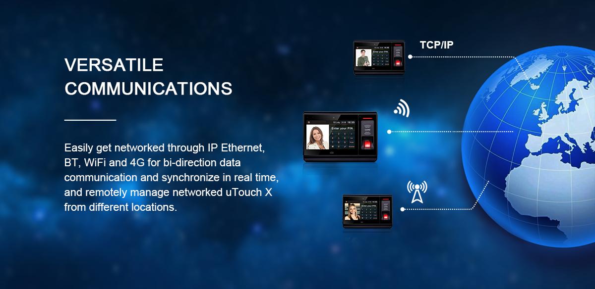 7 Inch Màn Hình Cảm Ứng Android Wifi NFC Bluetooth RFID Sinh Trắc Học Vân Tay Kiểm Soát Truy Cập Thời Gian Hệ Thống Chấm Công