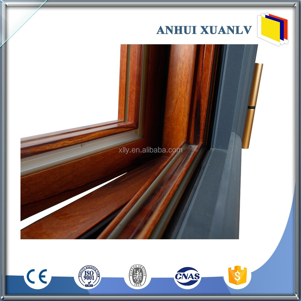 wood grain aluminium profile with thickness 1.2mm pre price window and doors