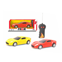 2 Colors Asst Remote Control Car 2 Channel 1:18 R C Car Toy with Light