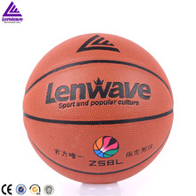 Lenwave factory basketball ball size 7 custom leather basketball wholesale
