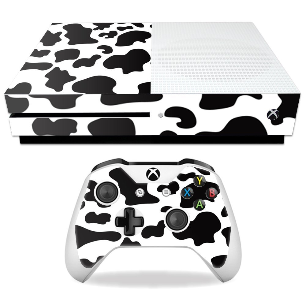cf38b13b2a4259 Get Quotations · MightySkins Protective Vinyl Skin Decal for Microsoft Xbox  One S wrap cover sticker skins Cow Print