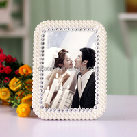 Europe Style Fancy 5x7 Resin Pearl Photo frame Factory Direct Sale