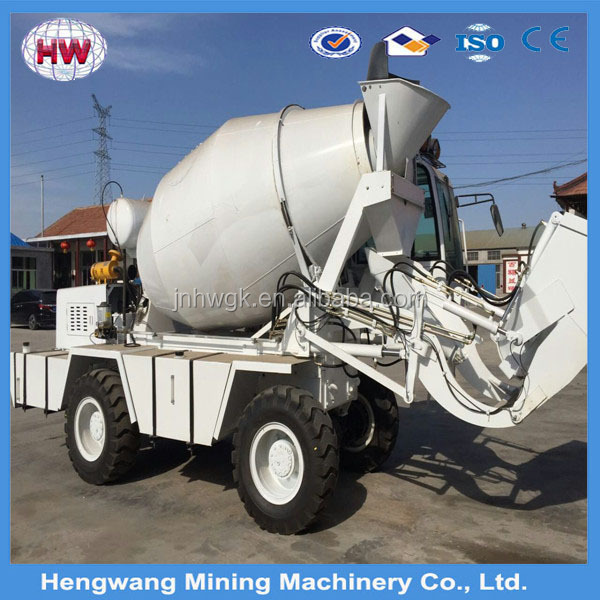 super quality China manufacture second hand concrete mixer trucks with lifting ladder