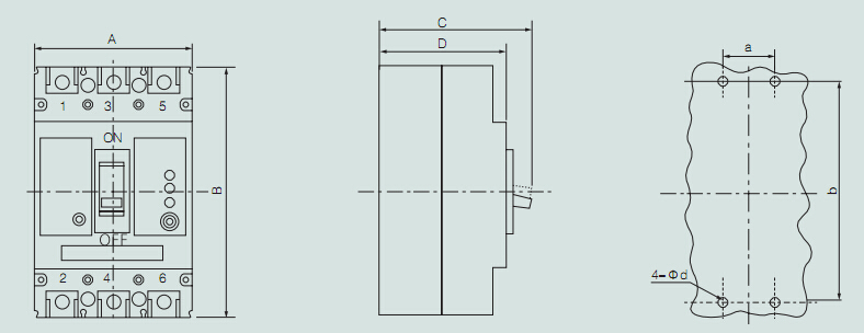 m1 ce dc circuit breaker   160a 1000v mccb
