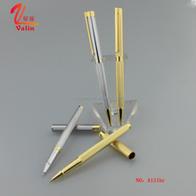 Business gift items slim metal 24k gold plated pen by Jiangxi pen manufacturer