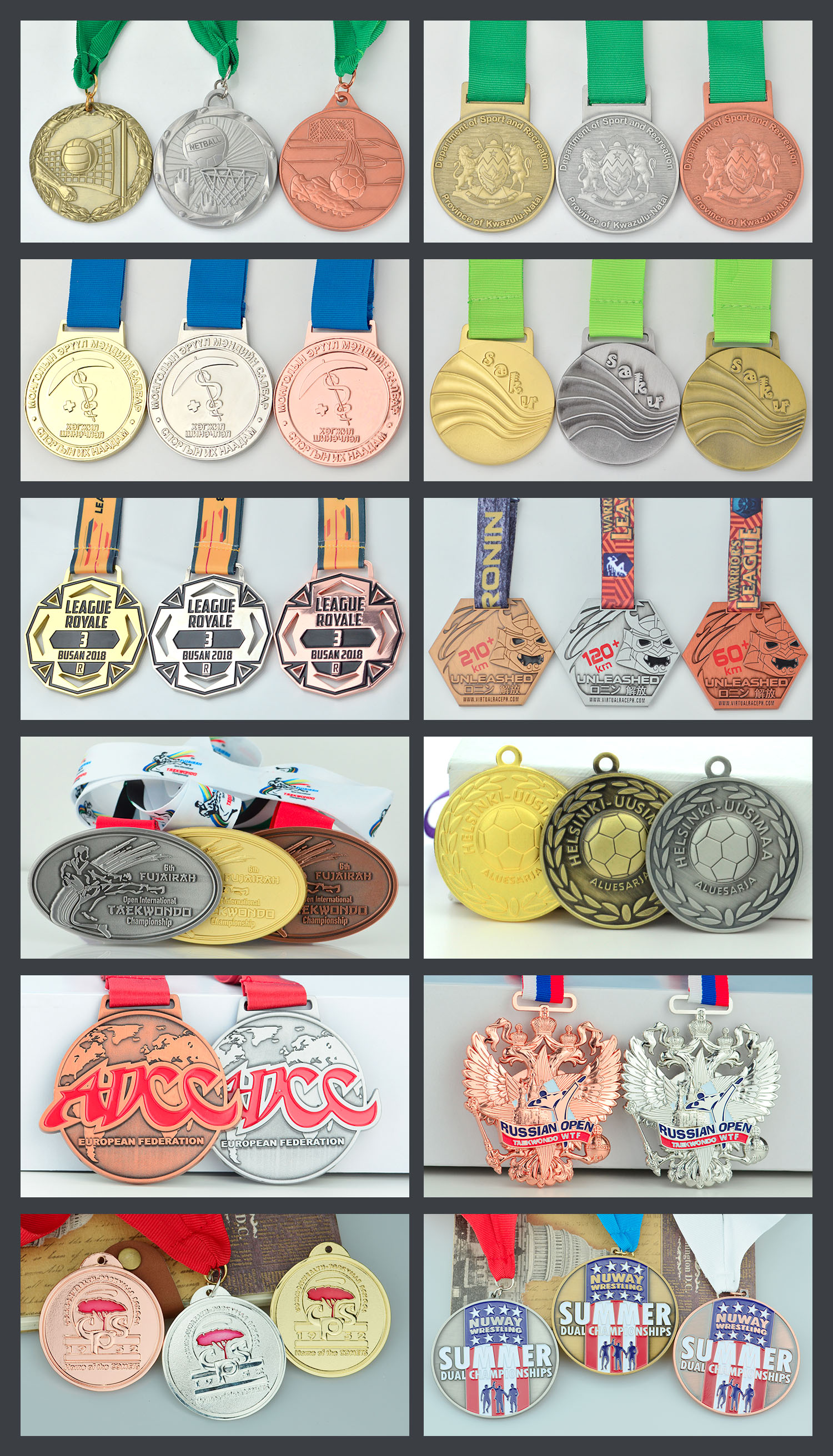 Medal Holder Factory Customized Logo Enamel Running Metal Medal