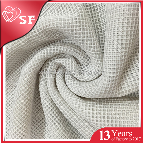 100 polyester breathable knit mesh fabric for shoes