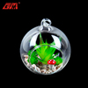 Wholesale clear hanblown glass hanging terrarium with artificial succulent plants for home decoration