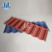 Polished Bent Stone Metal Roof Tiles