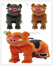 HI Pig Walking Ride On Mall Electric Walking Horse Toy Zippy Toy Rides Electric Animals Ride For Kids