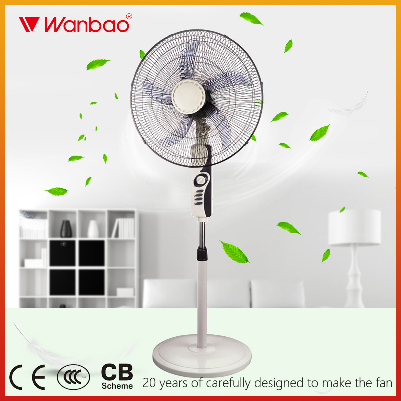 20 inch air cooling fan 5 blade big model pedestal fan with strong wind beautiful design stand fan