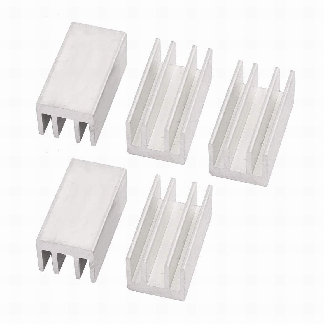 uxcell 40mm x 40mm x 20mm Aluminum Heatsink Heat Diffuse Cooling Fin Silver Tone