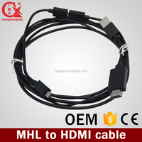 High quality For Samsung Galaxy S3 HDMI to MHL cable for note 3 note 2 s4 s3 cables adapter