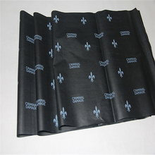 Customized printed 17gsm a4 size Black pantone color Wrapping tissue paper with company logo