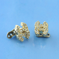 Alloy Piercing Dermal Anchor Channel With Pure Zircon Jewelry