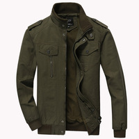 Men`s Casual Winter Cotton Military Jackets Windproof Windbreaker Outdoor Coat