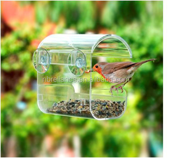 New Design clear acrylic window bird feeder
