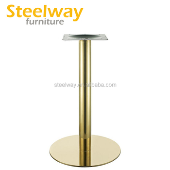 Brushed Stainless Steel Gold Br Table Base