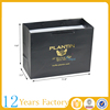 Black custom coated hot stamping paper bag