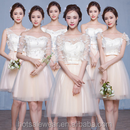 LEQ822 Romantic Korean Style Bridesmaid Dresses Prom Dresses Women