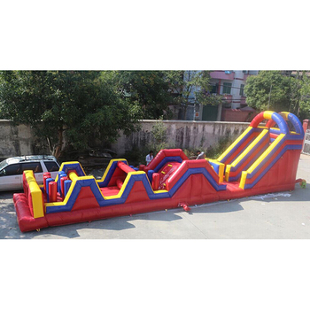 Best quality new design outdoor and indoor custom cheap commercial giant inflatable obstacle course for kids and