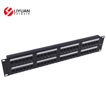 LY-PP5-08/LY-PP6-06 RJ45 2U Cat. 6 48 Port Modular Patch Panel With or W/T back ba