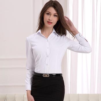 ladies long white shirt
