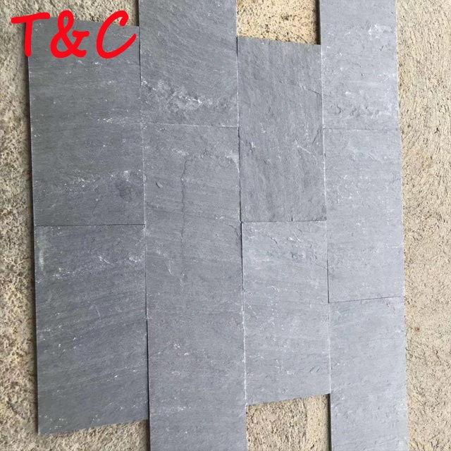 hot sale black slate stone panel outdoor stone wall tile black stone exterior wall cladding