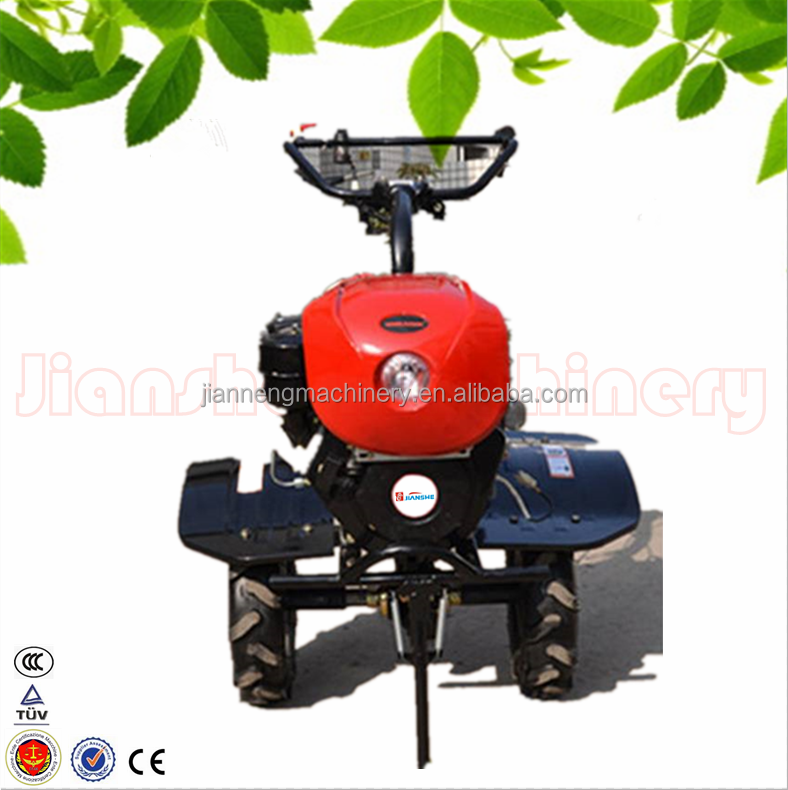 Hot sale walk-behind tilling machine model JS1Z-135E farm rotary cultivator made in China with ditcher ridger seeder fertilizer