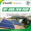 Bluesun easy install 3kw 7kw 10kw wind solar hybrid power system for home