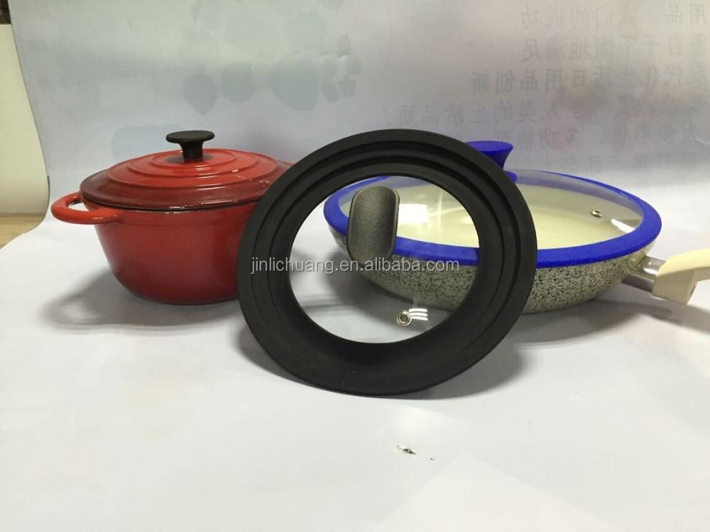 Utensilios de cocina de silicona tapa de vidrio con la - Utensilios de cocina de silicona ...