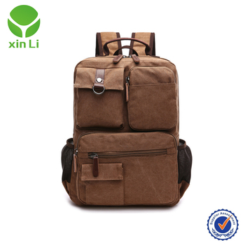 c648672ea7 Canvas Small Size Laptop Backpack with Massage Cushion Straps for Laptop Up  to 13 inch and