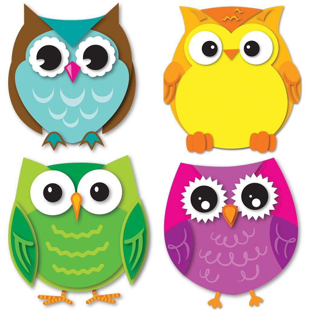 Carson Dellosa Colorful Owls Mini Cut-Outs (120195)