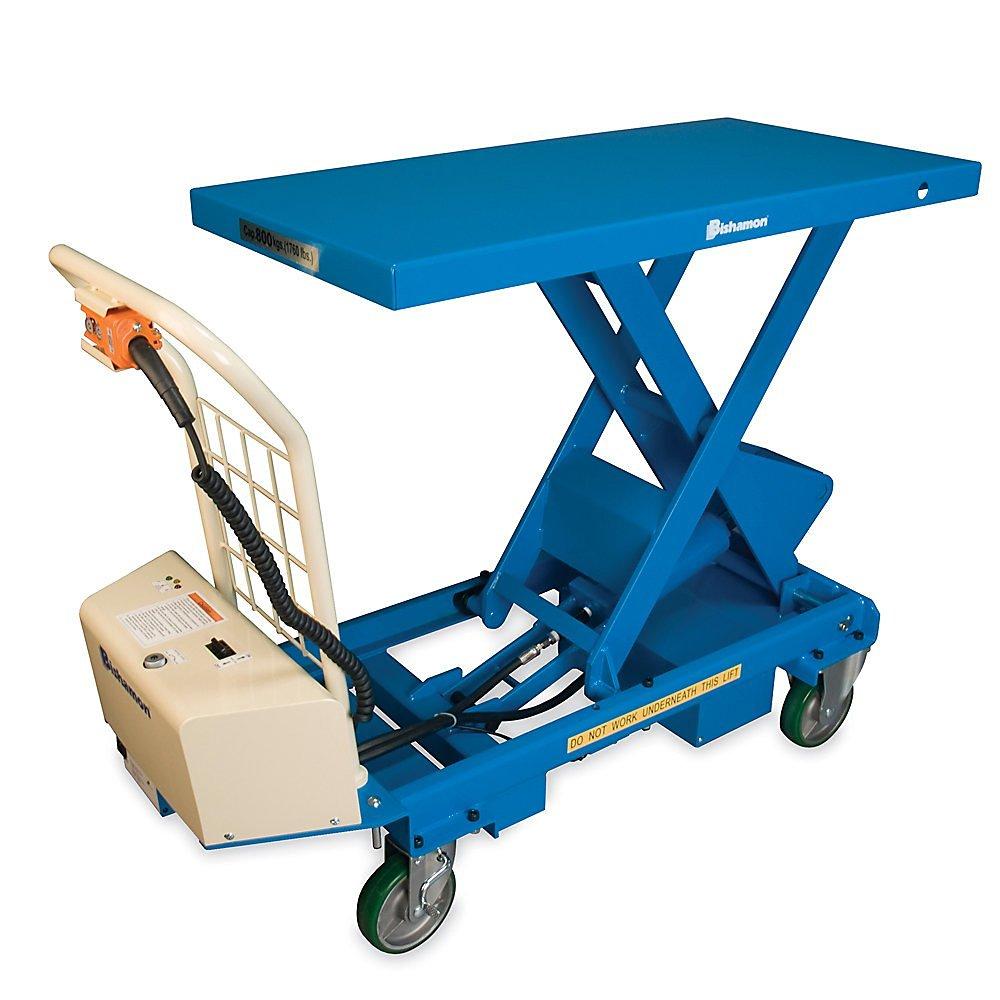 "Bishamon Mobilift Electric Scissors Lift Tables - 660-Lb. Capacity - 17.5 - 63.8"" Lift Height"