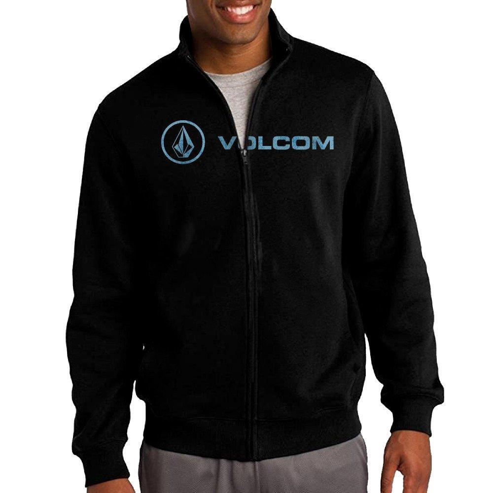 42dfa022ce5 Get Quotations · Hiro Men s Sweatshirt Volcom Full-zip Hoodie Jacket Black