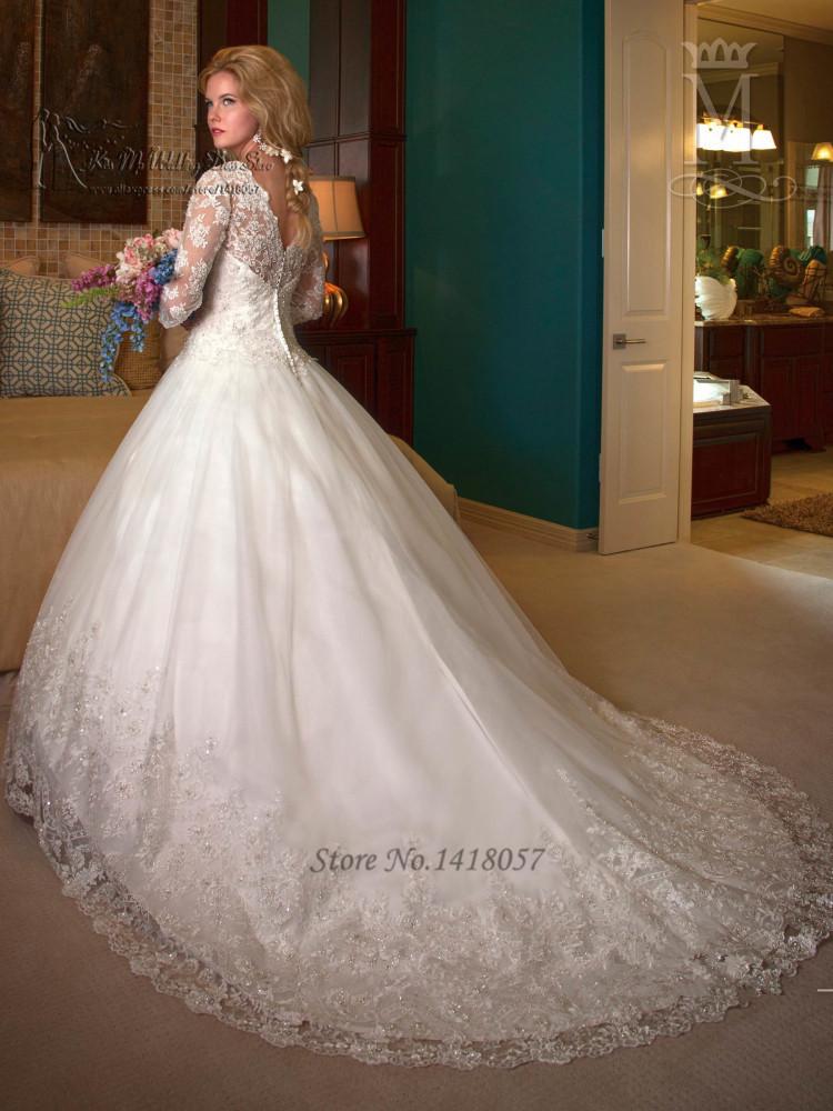 b3f935e52 aliexpresscom buy modest winter luxury wedding dresses 2016 long sleeve  lace bride dress wedding gowns ball