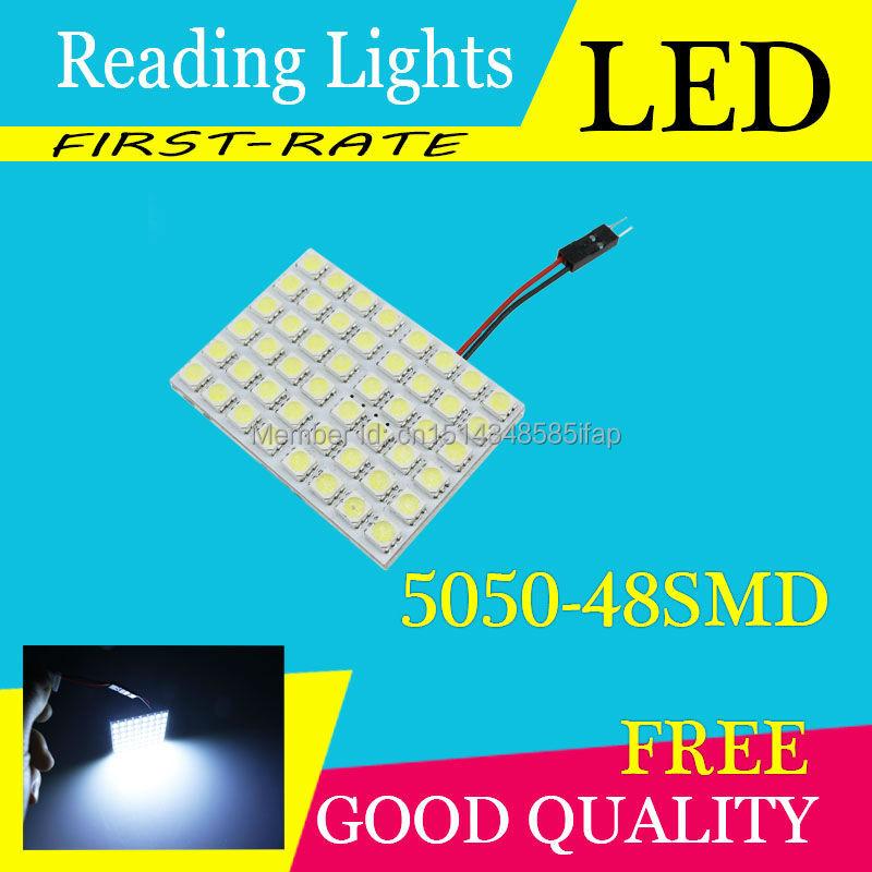 2 шт./лот 5050 48SMD автомобиля - стайлинг 48LED T10 фестона автомобильный адаптер из светодиодов автомобильной топ купола лампы внутреннего чтение свет бесплатная доставка