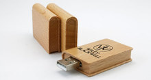wood book shaped usb flash drive 8gb