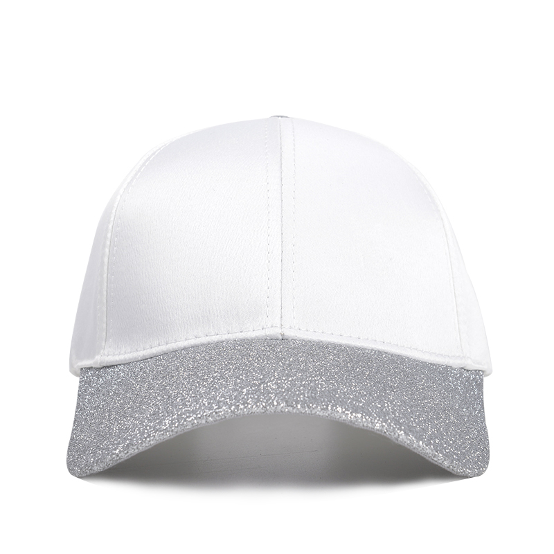 Wholesale Cotton and Glitter Brim ODM OEM custom Baseball cap