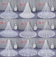 Women's Appliques Tulle Bridal Wedding Veil With Comb