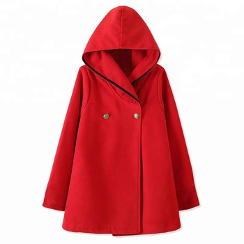 Wholesale Monogram Personalized Essential Fashion Women Hooded Woolen Cape