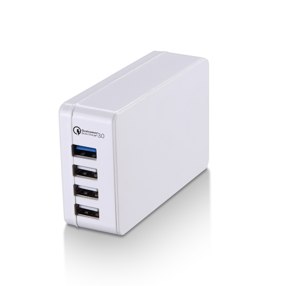 2016 new arrival 12V 1.5A+5V 4A 4 port USB travel chareger with qualcomm 3.0 quick charge technology