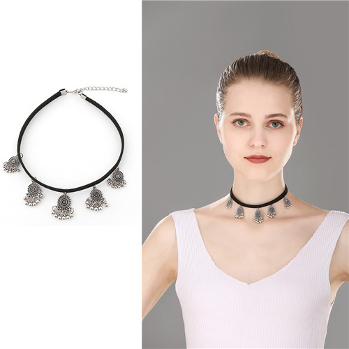 Choker Necklace Black Jewelries Pendant Necklaces For Women