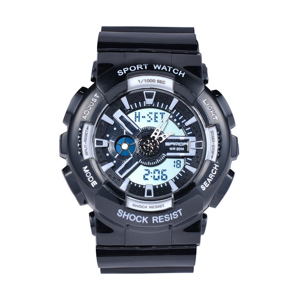 WJ-7552 Casual Fashion Analog LED Digital Waterproof Colorful Attractive Alarm With Date Sport Unisex Watches фото