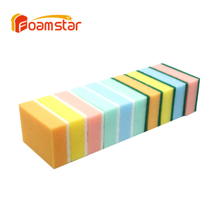 Colorful Dish Washing Kitchen Cleaning Sponge Scourer