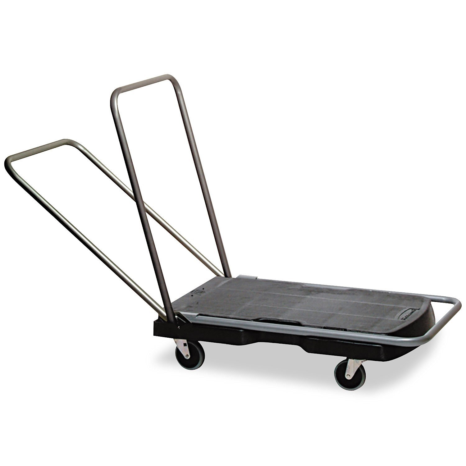 "Rubbermaid® Commercial Utility-Duty Home/Office Cart, 250lb Cap, 20-1/2"" x 32-1/2"" Platform, Black"