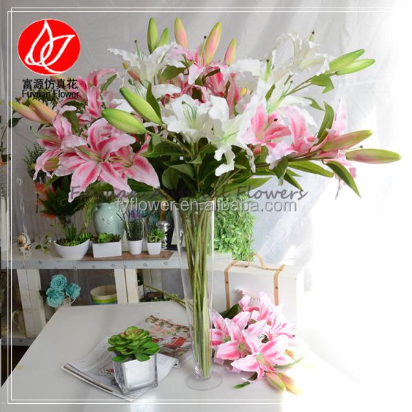 140884 Economic Professional Decorative Artificial Tiger Lily Silk ...