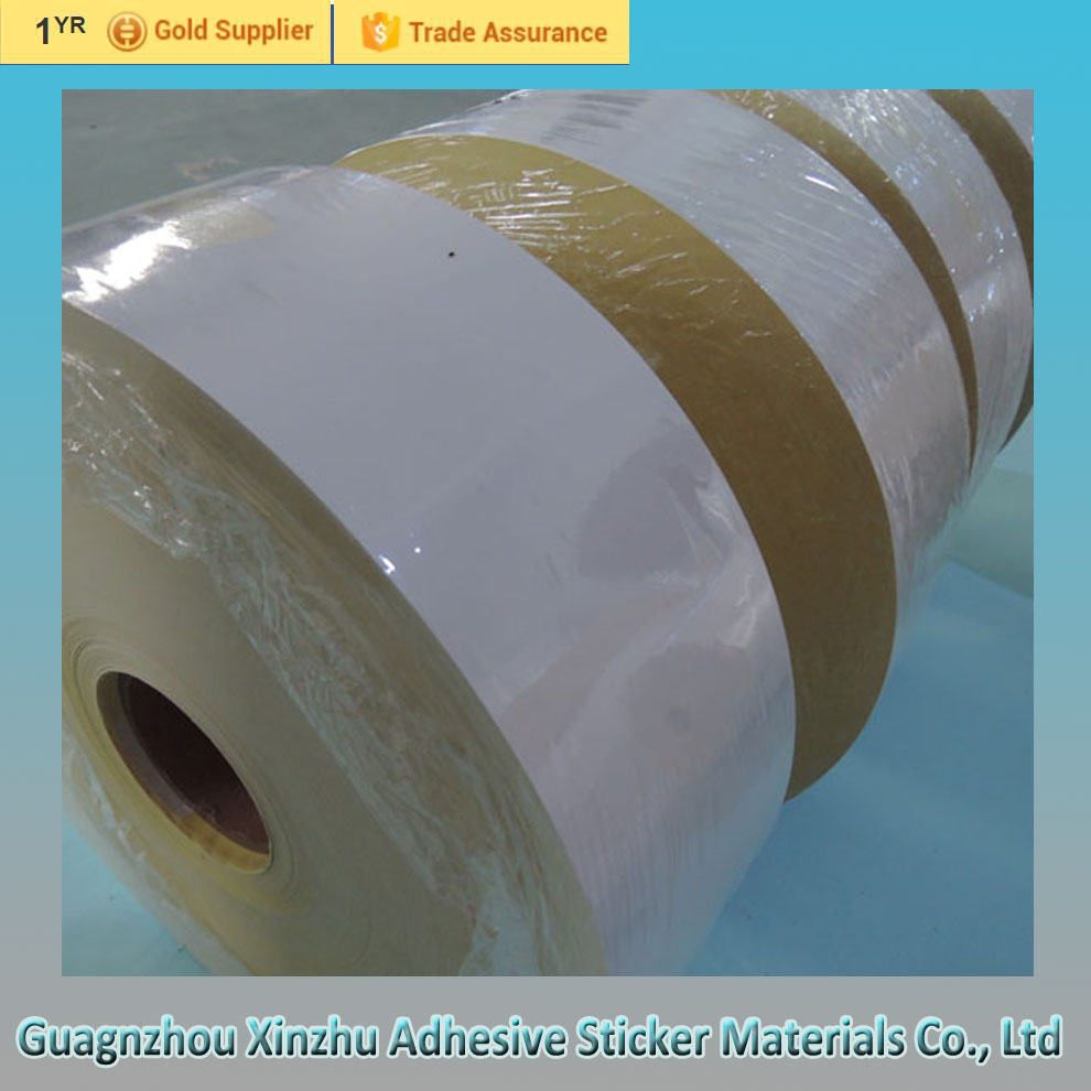 Permanent self adhesive sticker label thermal paper rolls wholesale