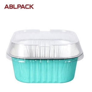 300ML/10oz Disposable Customized Foil Container Food Use Aluminum Restaurant Take Away Box With Lid
